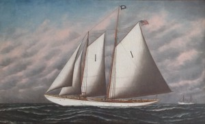 Artistic rendering of pilot schooner HENRY P. WILLIAMS