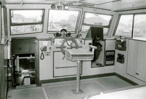 Wheelhouse of the original CHARLESTON PILOT, 1960's.
