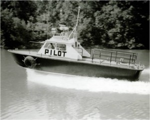 Charleston pilot boat SIS II, the first aluminum shuttle boat.  Built in 1972 in Louisiana.