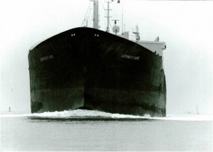 Inbound tanker coming into Charleston Harbor, 1972.